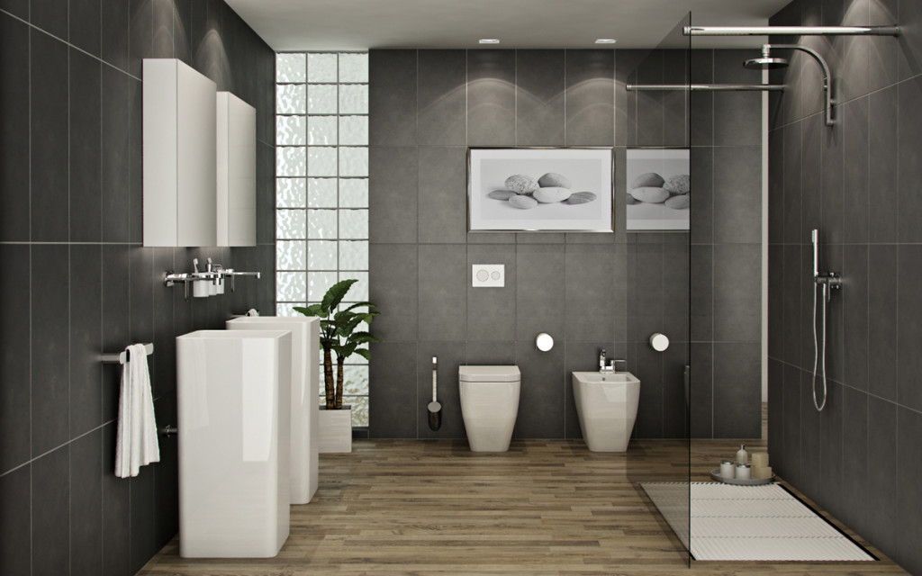 Elegant Bathroom Design In Feng Shui