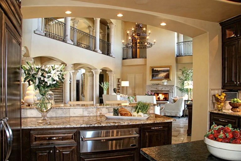 horseshoe-bay-waterfront-tuscan-kitchen-to-living-by-zbranek-holt-custom-homes-horseshoe-bay-and-austin-luxury-custom-home-builders