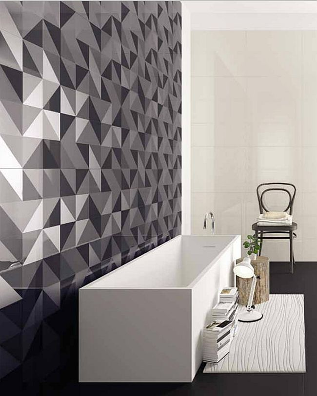 Geometric-tiles-add-intrigue-to-the-bathroom-without-disturbing-the-color-scheme